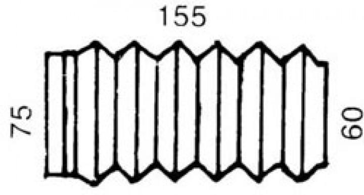 Faltenbalg Hahn 155 x 75/60 mm für Auflaufbremse