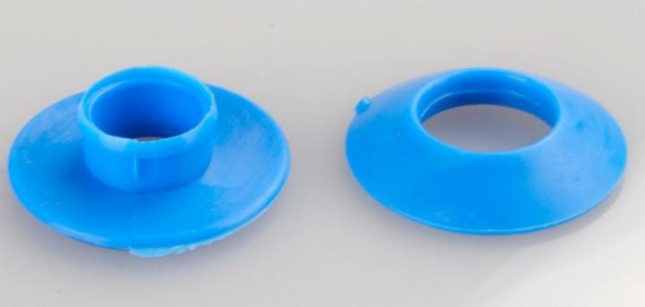 Kunststoff Ösen 12 mm blau