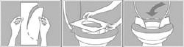 ClinSit Toilettenbrillen-Abdeckung