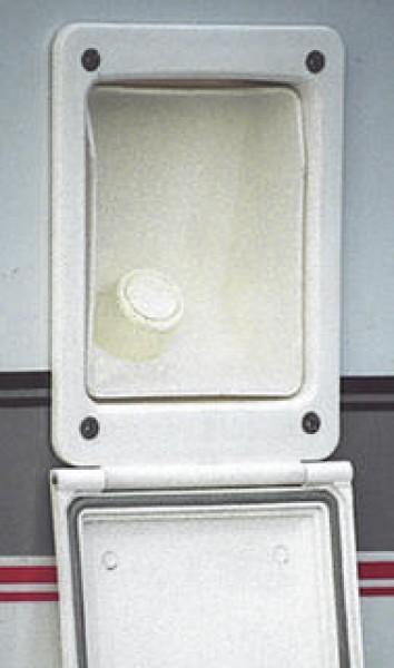 Wasserbefüllklappe 135 x 40 mm weiß