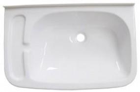 Waschbecken mit Seifenablage weiß