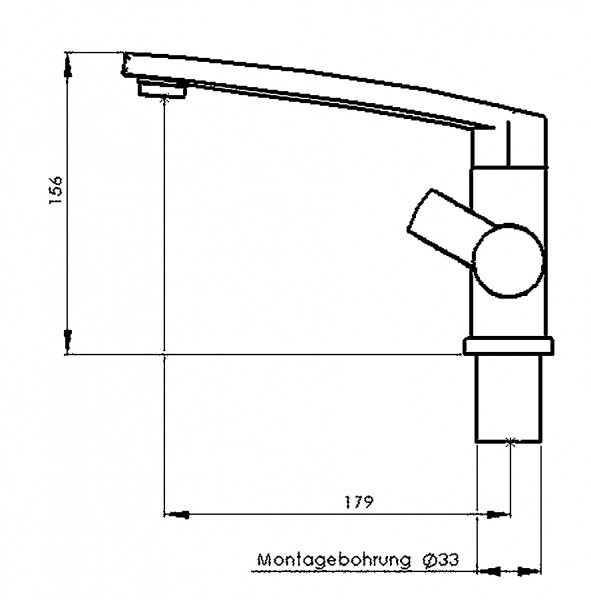Reich Einhebelmischer Keramik Concept S (3 cm verlängert)