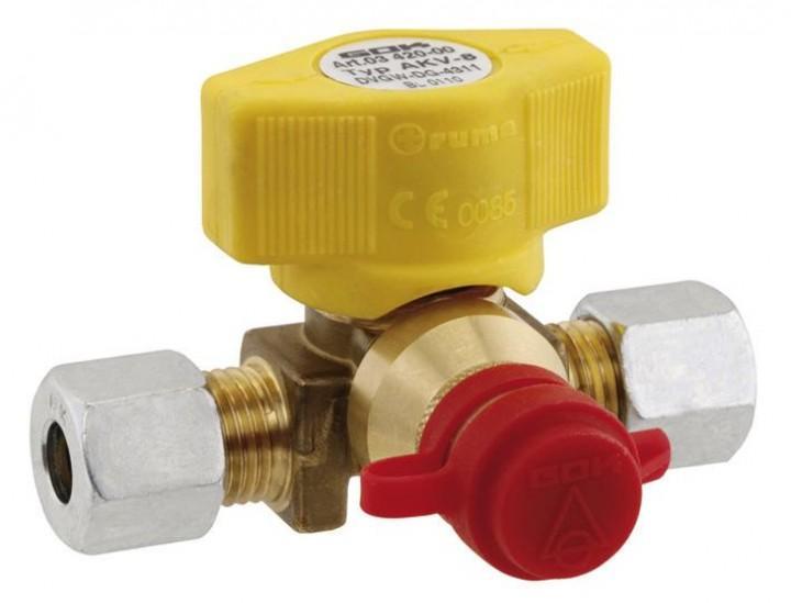 Gas-Schnellkupplung RVS 8 x RVS 8 x Steckkupplung