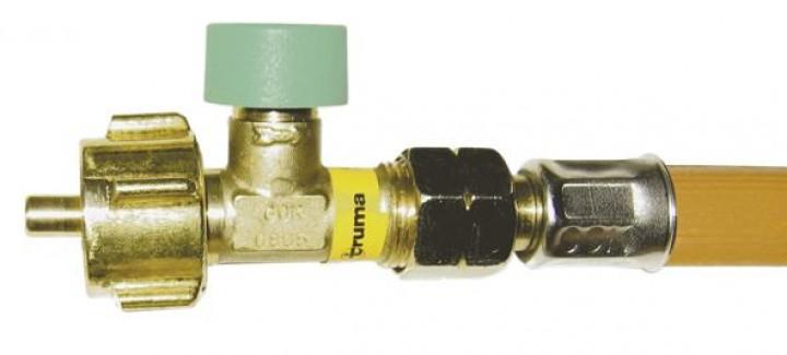Hochdruckschlauch 150 cm für außenstehende Großflaschen GS,DE