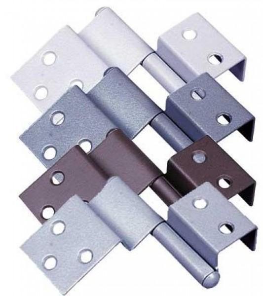 Spezialscharnier für Türen rechts mittelgrau