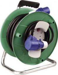 CEE-Kunststoff-Kabeltrommel mit CEE-Stecker und CEE-Kupplung