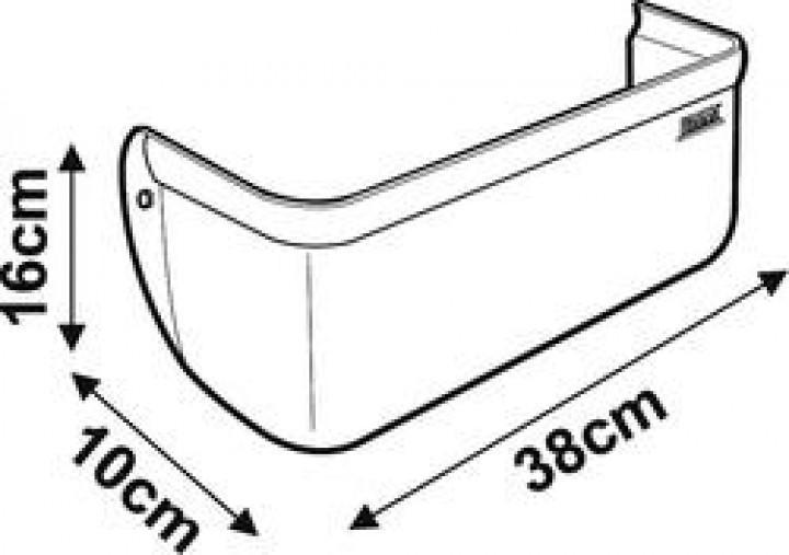 Fiamma Staubehälter grau 10 x 38 x 16 cm