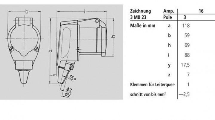 CEE-Winkelkupplung