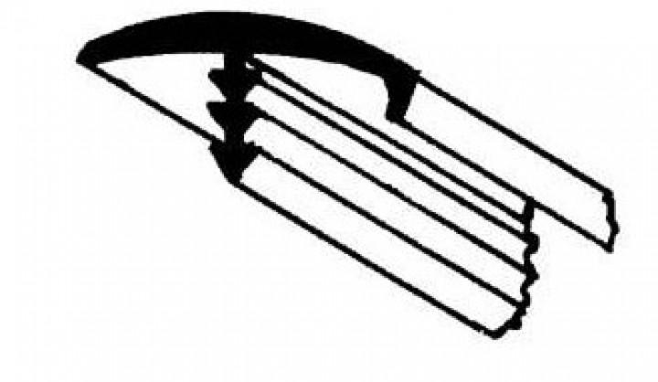 T-Umleimer mit Nase dunkelgrau 5m