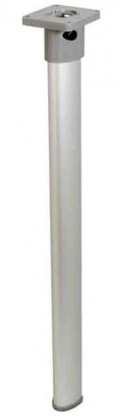 Gelenktischfuß mattsilber Gelenk oben 675 mm