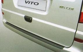 Ladekantenschutz für Mercedes Vito-Viano ab 2003 mit lackierter Stoßstange
