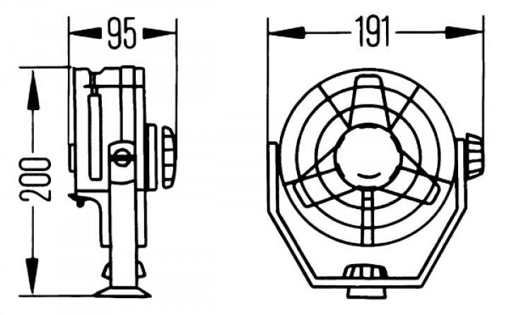 HELLA-Turbo-Ventilator 24 Volt Ausführung