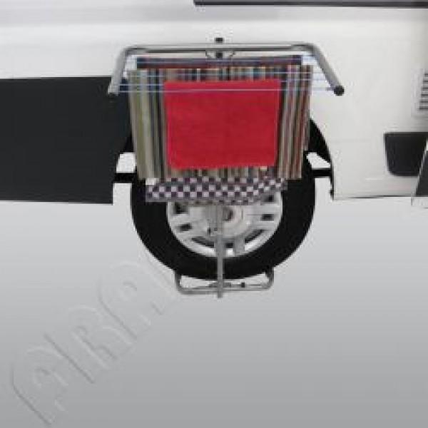 Wäschetrockner für Reisemobile und Wohnwagen silbergrau