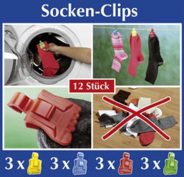 Socken Clips 12er-Pack