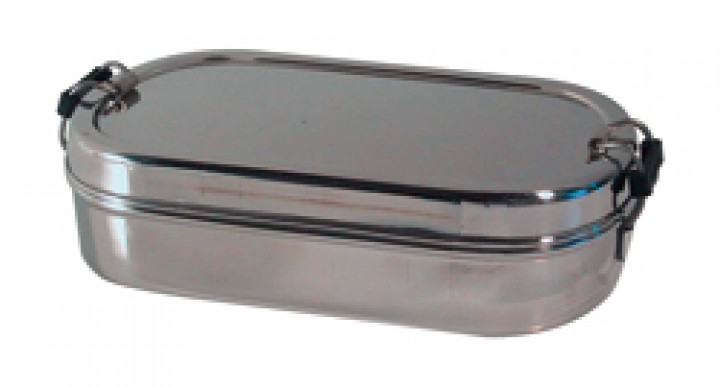 Lunch Box groß 10 cm Edelstahl Geschirr