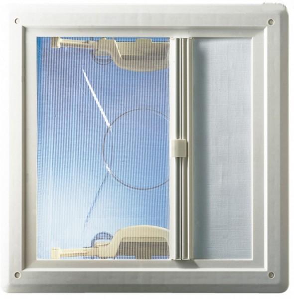 Hartal Rahmenunterteil mit Rollo weiß für Dachhaube 40x40 cm