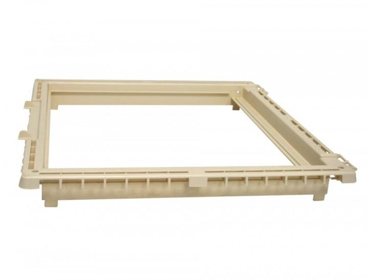 Hartal Rahmen-Unterteil weiß für Dachhaube 40x40 cm