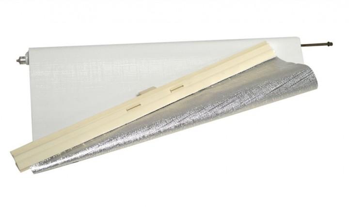 Hartal Verdunkelungsrollo weiß für Dachhaube 40 x 40 cm