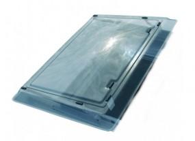 Acrylhaube 400 x 400 mm für Remi Top II Schiebehaube