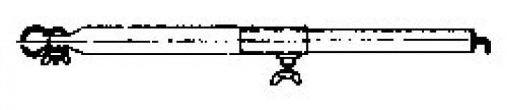Dachhakenstange Stahl 32 mm 185-260 cm