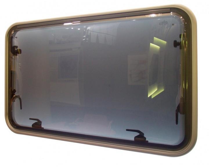 Aluminium-Rahmenfenster Polyvision ohne Innenrahmen 900 x 500 mm