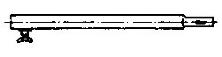 Zwischenstück mit Einsteckteil Stahl 22 mm 100 cm 2-er Set