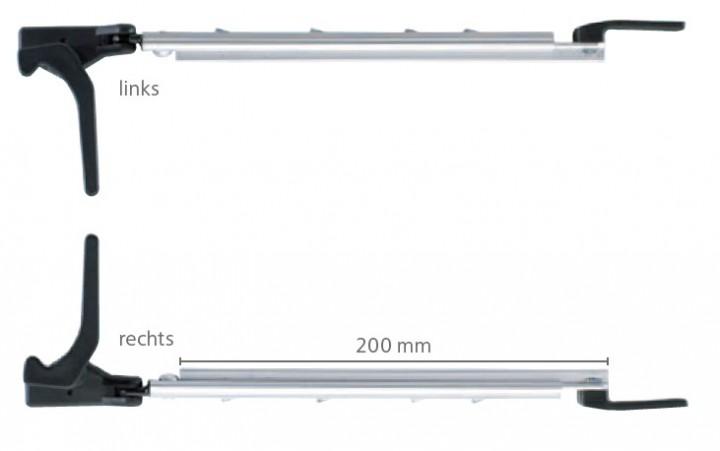 Polyplastic Fenster Rohraussteller 230 mm links und rechts