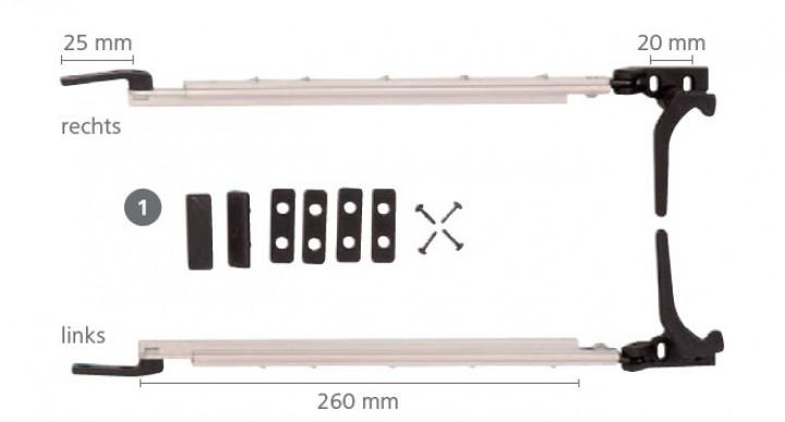 Polyplastic Fensteraussteller Länge 300 mm links & rechts