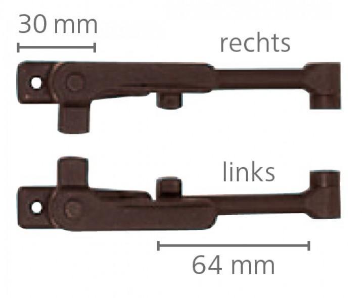 Klick-Klack-Aussteller 6,4 cm für S3 und S4 Fenster VAM 300