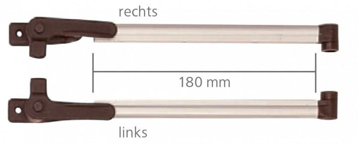 Klick-Klack-Aussteller 18 cm für S3 und S4 Fenster VAM 450