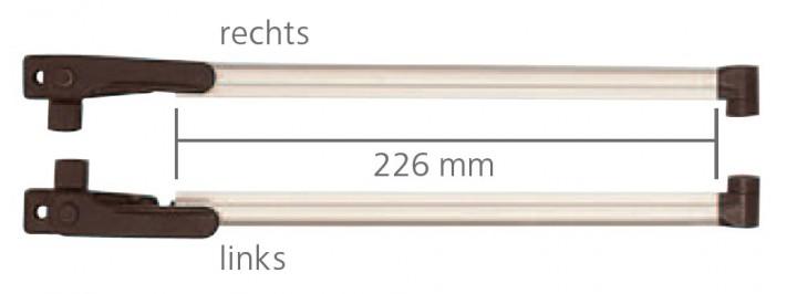 Klick-Klack-Aussteller 22,6 cm für S3 und S4 Fenster VAM 500