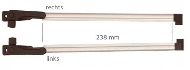 Klick-Klack-Aussteller 23,8 cm für S3 und S4 Fenster VAM 550