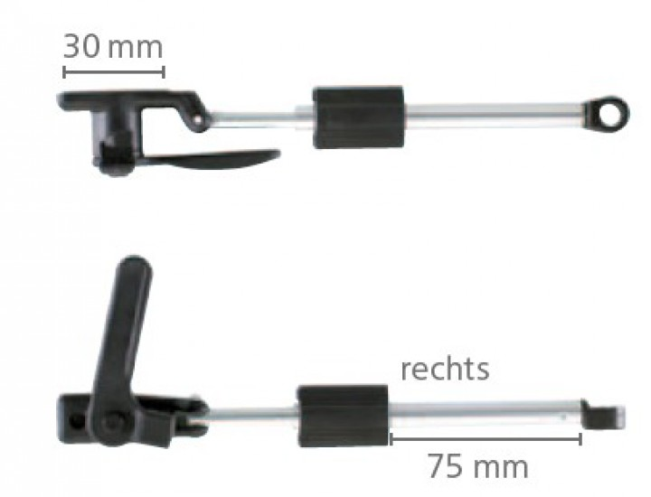 Dometic Seitz Drehaussteller links 400 mm für S3 und S4 Ausstellfenster