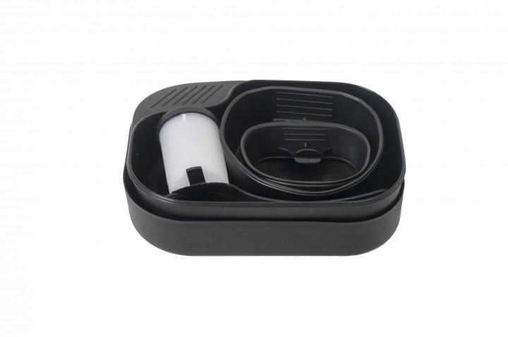 Essgeschirr Set Kunststoff, schwarz