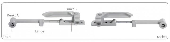 Aussteller 380 mm für S-6 Fenster links