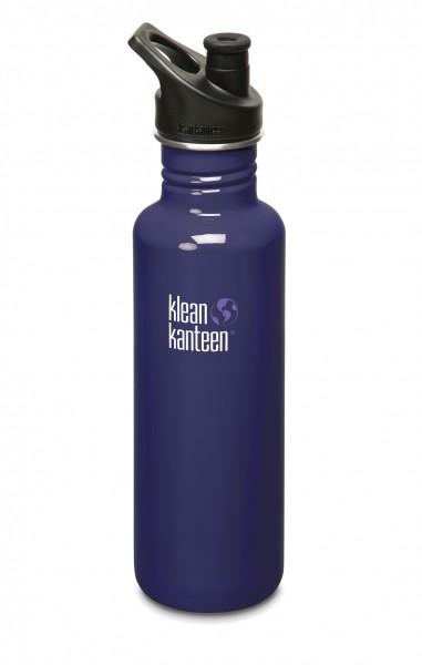 Klean Kanteen Flasche 'Classic' Sports Cap dunkelblau, 0,8 L
