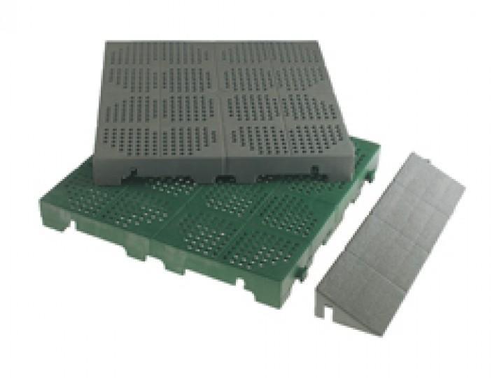 Vorzelt Kunststoffrost - Abschlussleiste grün 400 x 100 mm