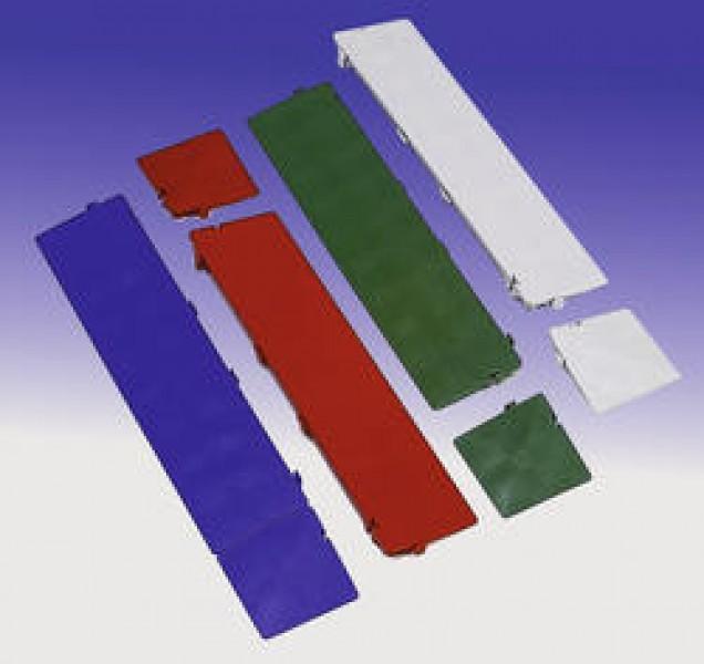 Clippy - Zubehör - Eckrampe für Clippy Bodenrost 120 x 120 x 25/5 mm königsblau
