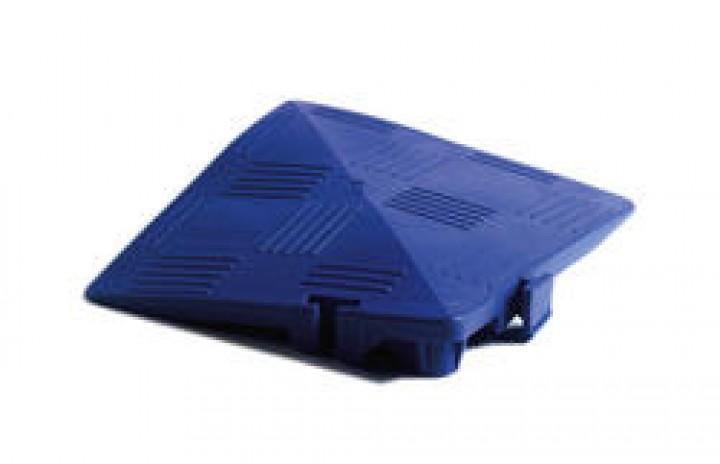 Clippy - Zubehör - Eckrampe für Clippy Bodenrost 120 x 120 x 25/5 mm kaminrot
