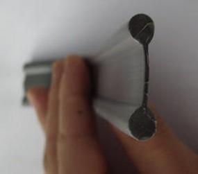 PVC Doppelkeder silber 7 mm