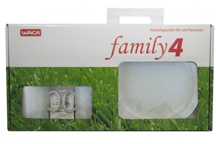Waca Granit Geschirr-Set Family 4 16-teilig