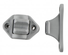 Türfeststeller beweglich 2-tlg. grau