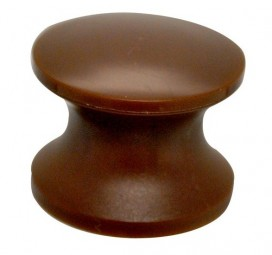 Druckknopf braun für PUSH-Lock-Drehstangenschloss