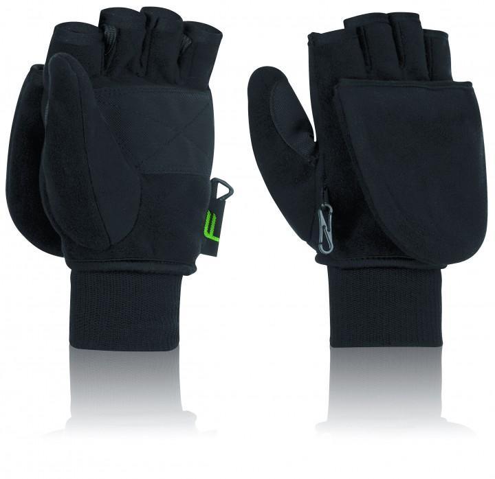 F Handschuhe 'Klapp-Fäustling' schwarz, L