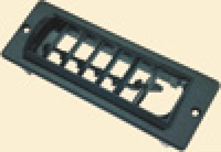 Rechtecklüfter RL, schwarz für Klimaanlagen Saphir