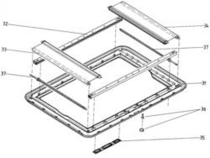 Ersatzteile für HEKI 1 - Glasrahmen ohne Anbauteile elfenbein