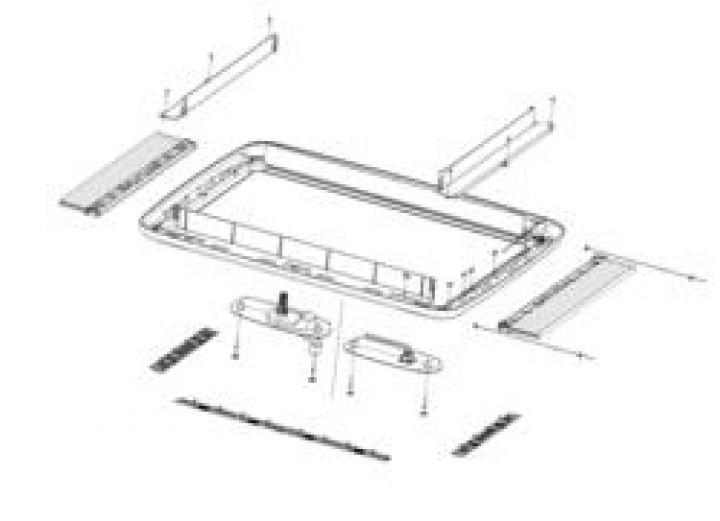 Ersatzteile für MIDI-HEKI - Außenrahmen komplett (Pos. 7 bis 12) Kurbelversion