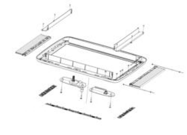 Ersatzteile für MIDI-HEKI - Innenrahmen ohne Anbauteile