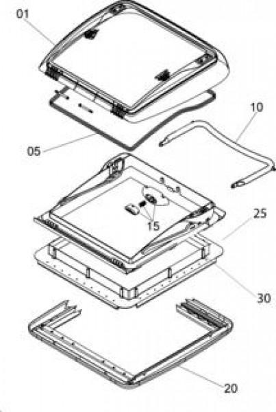 Ersatzteile für MINI HEKI - Drucktaster mit Montageteile