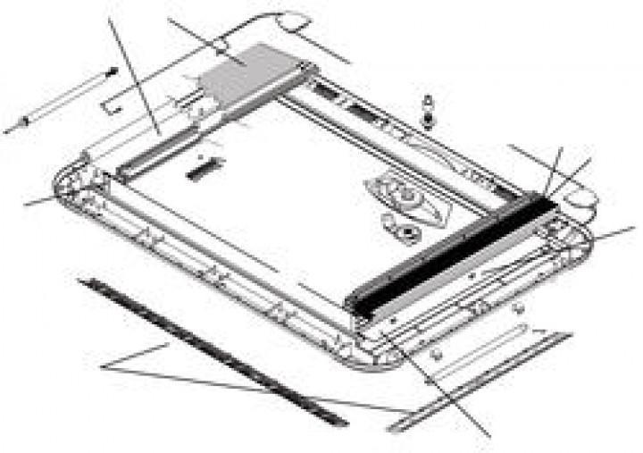 Ersatzteile für HEKI 3 und HEKI 4 - Montagebock und Schraube 53 bis 60 mm rot